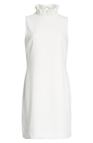 Ted Ruffle London Pleat 'S Dress Baker White Shift 4rq4gcSw