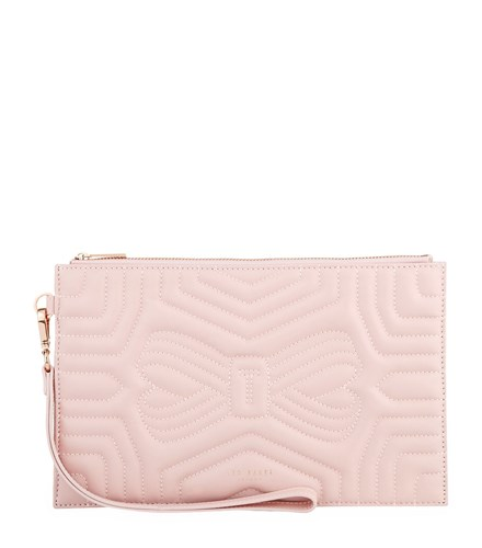 Leather Ted Bag Pink Clutch Verda Bow Baker pxwfxqUA