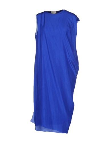 Knee Length Dresses Lanvin Blue Bright Pw8n4q