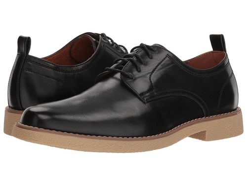 Deer Stags Highland Black Simulated Leather Plain Toe Shoes fdcpu75M