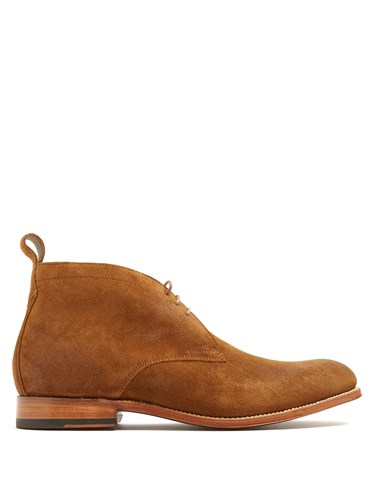 Grenson Marcus Suede Desert Boots Brown HJAcl4L4