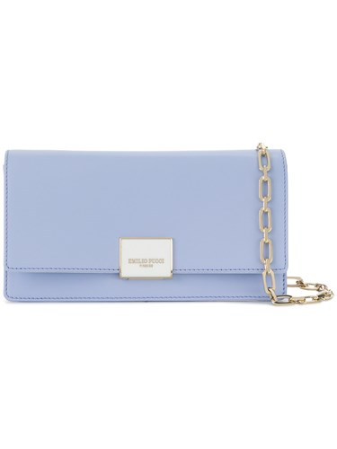Emilio Pucci Logo Plaque Clutch Bag Blue S3eA8JX