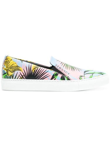 Versace Printed Slip On Sneakers Multicolour SYx7o81YXT