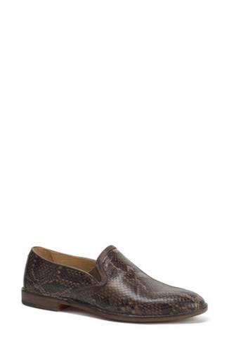 Trask 'Ali' Flat Brown Print Leather To0JY