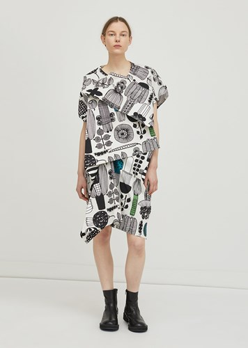 Junya Watanabe Cotton Puutarhurin Parhaat Dress Grey Green Black Grey Green Black 8xXRwOW8vM