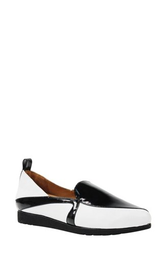 L'Amour Des Pieds Marjolaina Loafer Black White Patent Leather nx4n1ngg1