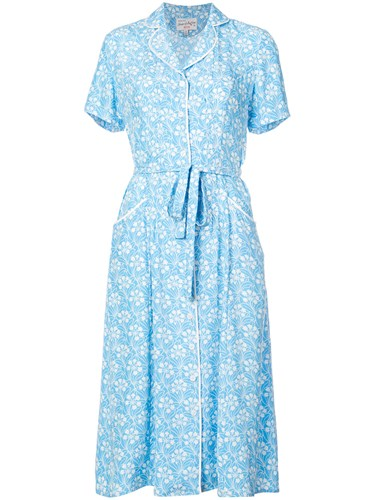 Harley Viera Newton Capitol Xx Collection Belted Floral Dress Blue z9k5a0QQ