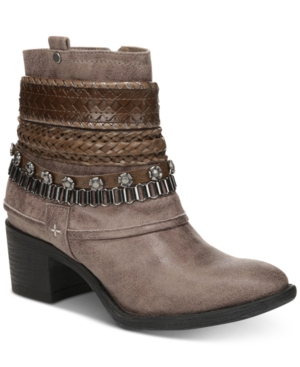 Carlos by Carlos Santana Cole Booties Women's Shoes Taupe XCuNyMVO