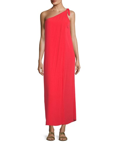 Mara Hoffman Camilla One Shoulder Shift Dress Red 19hIPI