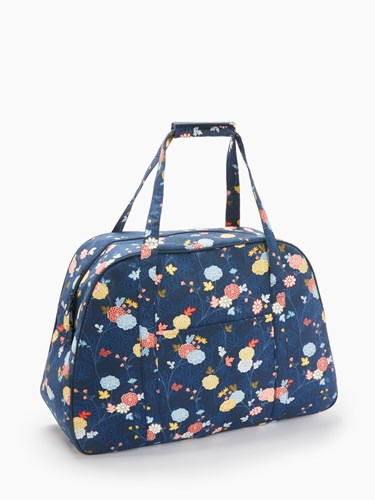 John Lewis Floral Vine Print Sewing Machine Bag Blue ASfMd5wc