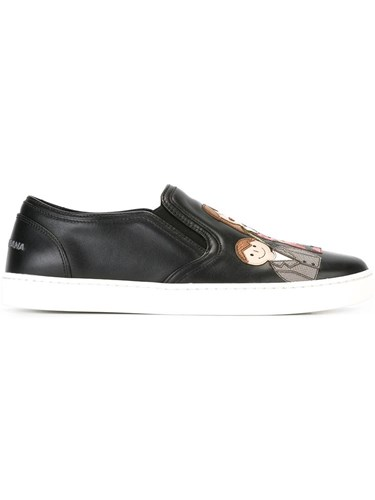 Dolce & Gabbana 'London' Slip On Sneakers Black lBNtyfus