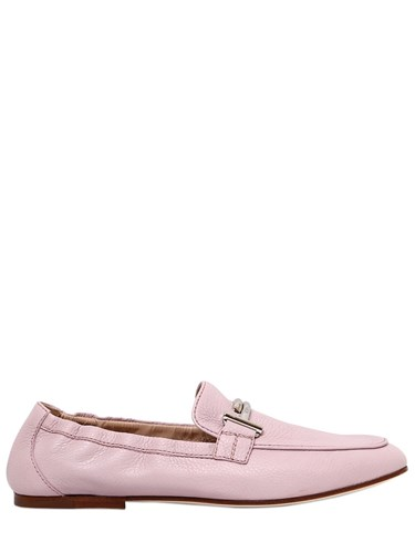Tod's 10Mm Double T Soft Leather Loafers Pink xFkBMl8nK
