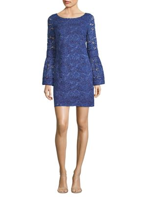 Laundry by Shelli Segal Lace Shift Dress Midnight cuTLSIe