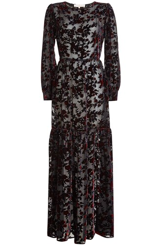 Marina Hoermanseder Floor Length Gown With Silk And Velvet Florals Q1fpU4