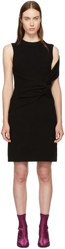 3 Phillip Dress Lim Ribbed Twist 1 Black ZFwxZAOHq