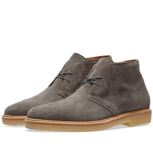 Common Projects Chukka Waxed Suede Grey 4SfJliWX