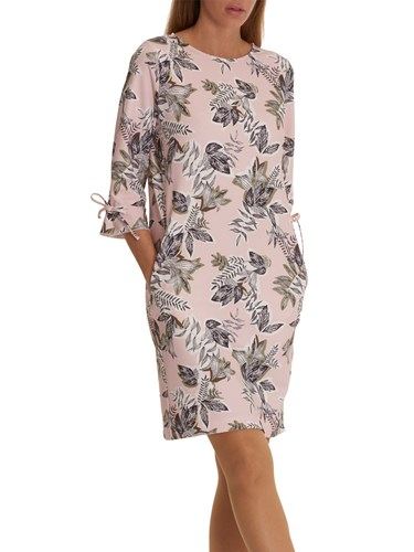 Betty & Co. Leaf Print Dress Rose Khaki ZXEIqD