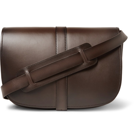 Dylan Leather Messenger Bag Dark Brown