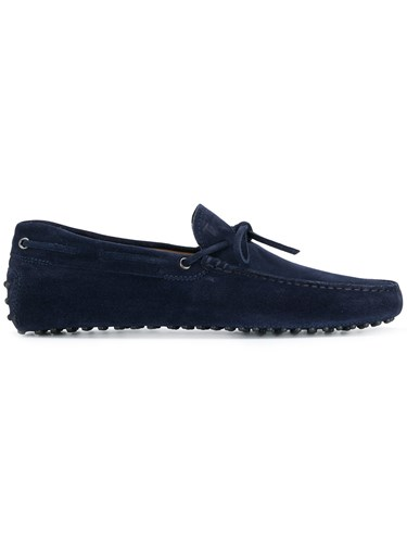 Tod's Galassia Loafers Suede Leather Rubber Blue i0cjNPo
