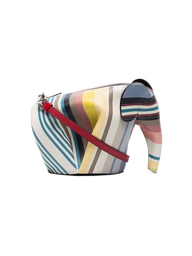 Loewe Elephant Stripe Leather Shoulder Bag Multicolour DfLmQ0Q