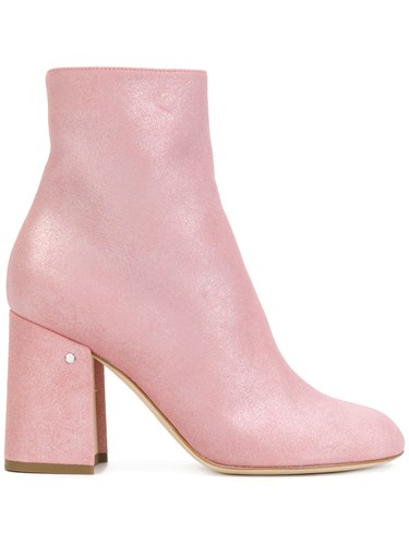 Laurence Dacade Ankle Boots Calf Leather Leather Suede Pink Purple dh3r7