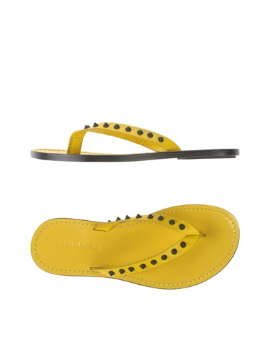 Sandals Yellow Strap DSquared Toe Dsquared2 CaxqWpwvTt