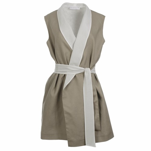 Roses Are Red Carole Linen Dress Neutrals z4l43dQD2