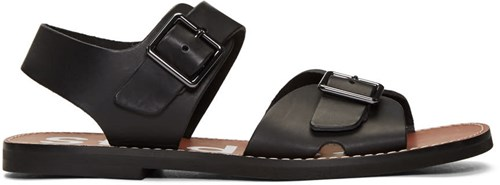 Acne Studios Black And Brown Basiel Sandals y6BAMh0EPo