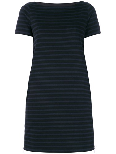 Sacai Zipped Trapeze Dress Cotton Black rnpudIcL