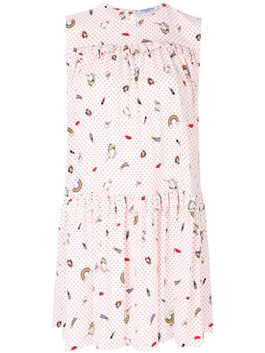 Vivetta Embroidered Polka Dot Dress White asrKcRxFi6