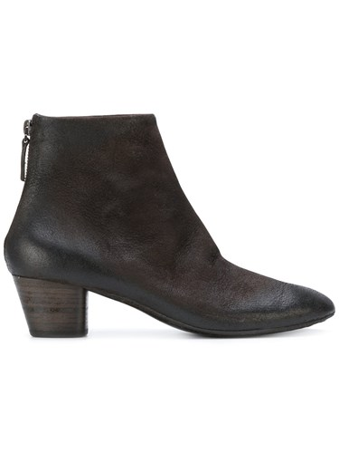 Marsèll Pointed Ankle Boots Women Leather Suede Rubber 36.5 Brown mjvY4Eyhv