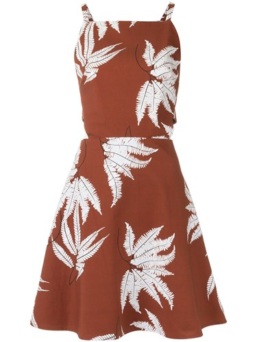 Andrea Marques Printed Dress Cotton Spandex Elastane WH0Zsry