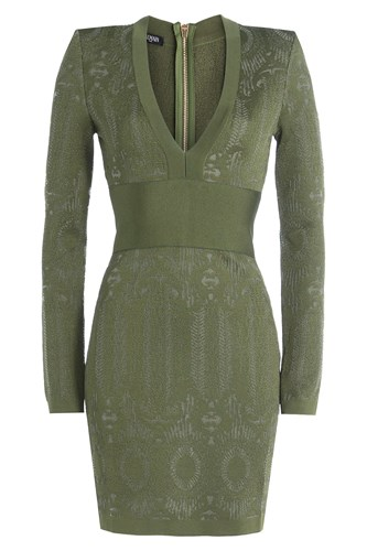 Balmain Knit Dress Green 5MPl8