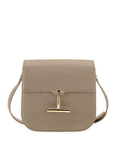 Tom Ford Tara Mini Grained Leather Crossbody Bag Taupe OERzSc