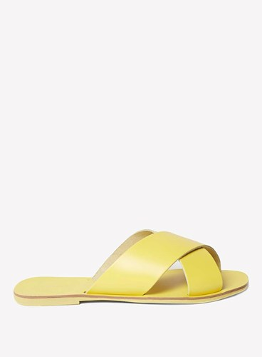 Dorothy Perkins Yellow Leather 'Fearn' Mules Kt4y5gUtX