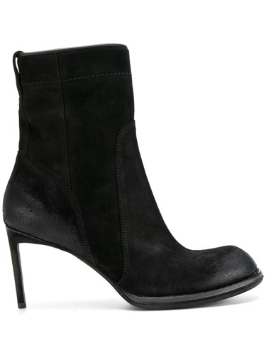 Haider Ackermann Rounded Toe Heeled Boots Leather Suede 37.5 Black JatyIX