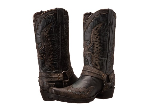 Eagle Outlaw Biker Black Stetson Boots Men's Distressed qH5TpBp