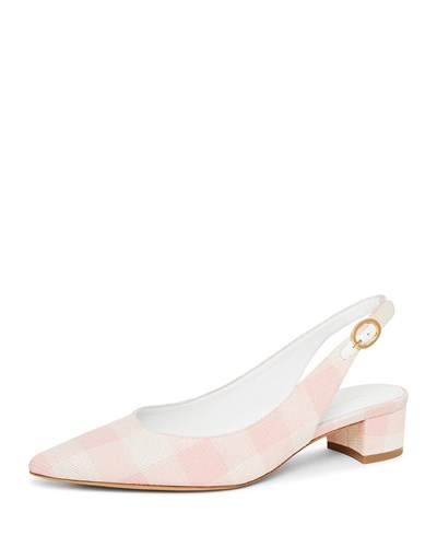 Mansur Gavriel Checker Slingback Pump Coral Checker 0J9rV