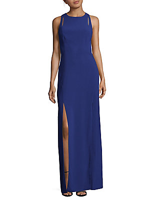 Halston Roundneck Gown Royal Blue bHo5a8v