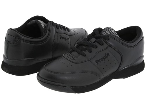 Propet Life Walker Black Women's Walking Shoes omVyNI