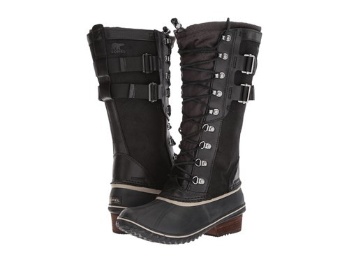Sorel Conquest Carly Ii Black Silver Sage Waterproof Boots NRT6X
