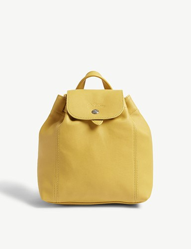 Longchamp Le Pliage Cuir Extra Small Leather Backpack Sunshine 75qhoWb