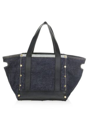Sacai Small Denim Tote Bag Blue wLGrIcOE