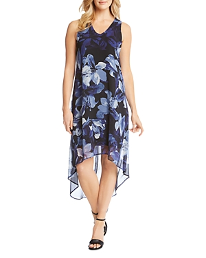 Print Kane Karen High Dress Floral Low Hem PEUUqw1