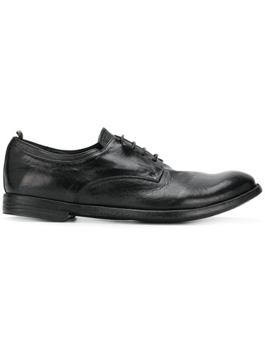 Officine Creative Worn Effect Lace Up Shoes Black 3gV1EO