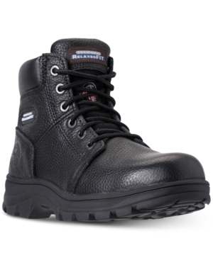 From Men's Black Skechers Boots Workshire Line Finish qtWUwUdPzO
