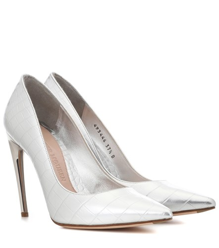 Alexander McQueen Leather Pumps Silver G3Og3IPd5