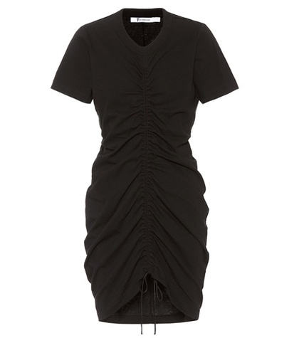 Alexander Wang Cotton Drawstring Dress Black IKEb2DI