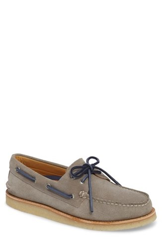 Sperry Gold Cup Ao 2 Eye Boat Shoe Grey Leather Q2rHUoXv
