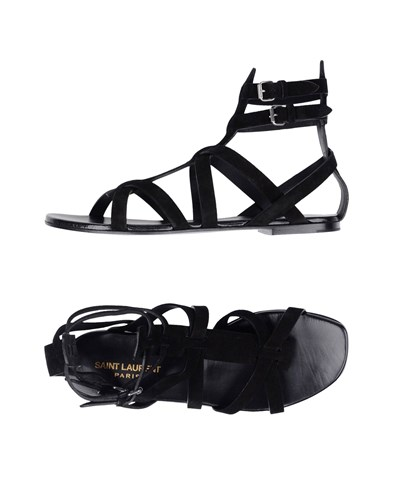Saint Laurent Saint Black Laurent Sandals Sandals rqORFWrA